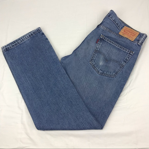 Levi's Other - Levis 559 relaxed straight blue jeans 34 x 32